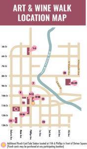 Art & Wine Walk Fall 21 map