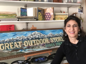 Michele David Mechling at Great Outdoor Store