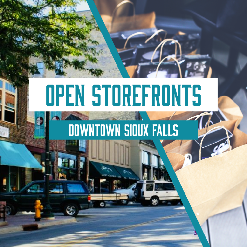 Open Storefronts in Downtown Sioux Falls