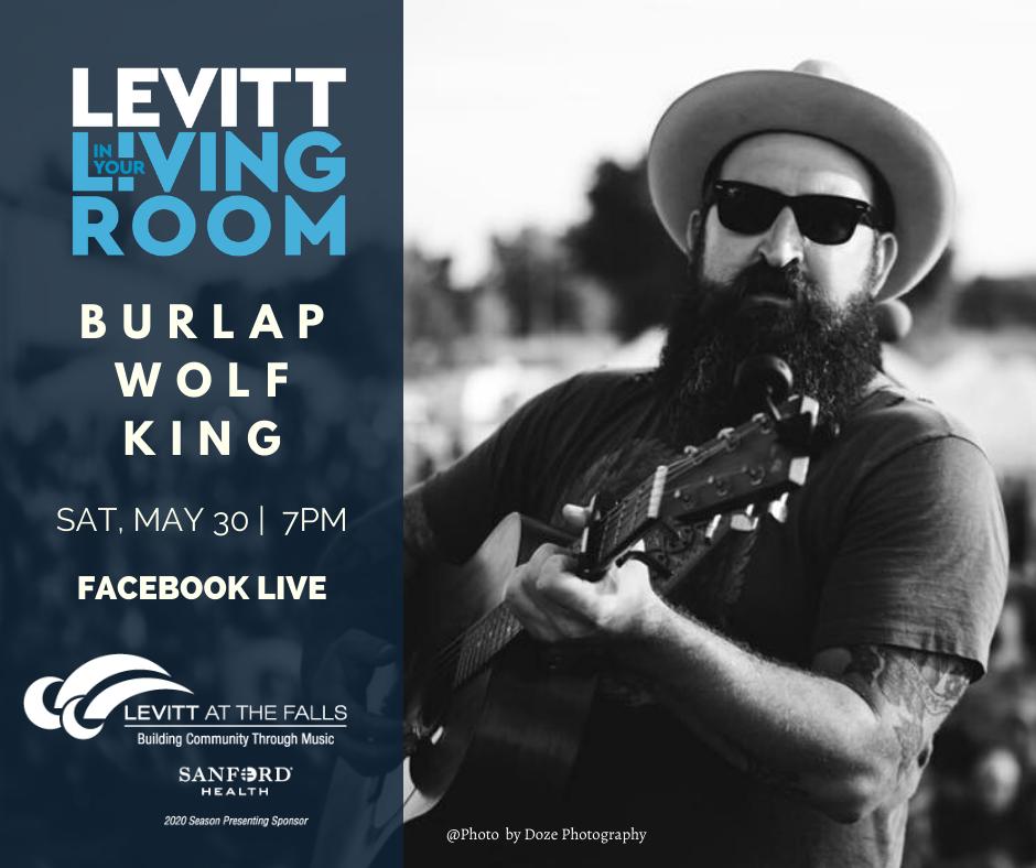 Burlap Wolf King - Levitt in Your Living Room