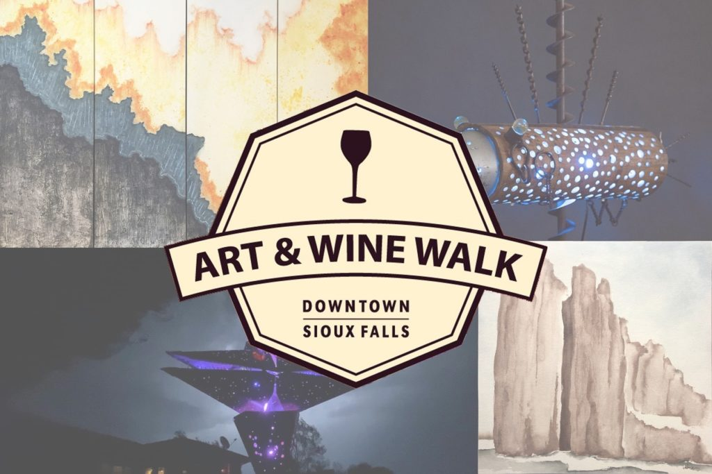 art & wine walk - sticks and steel