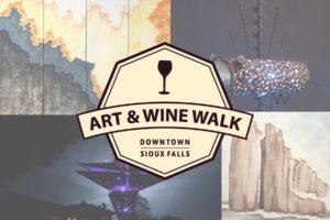 art & wine walk - sticks and steel