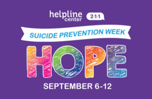suicide prevention week 2020