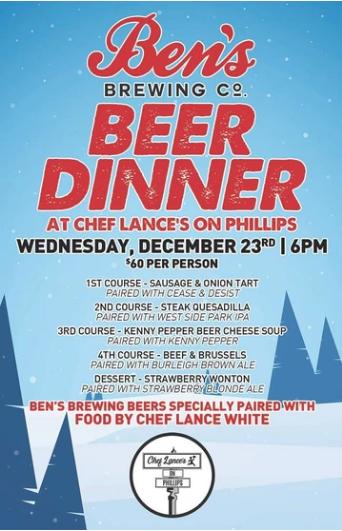Chef Lance's Beer Dinner