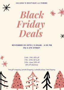 JuLiana's Boutique black friday deals