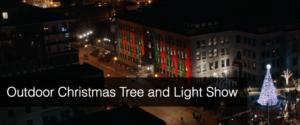 Outdoor Christmas Tree Light Show