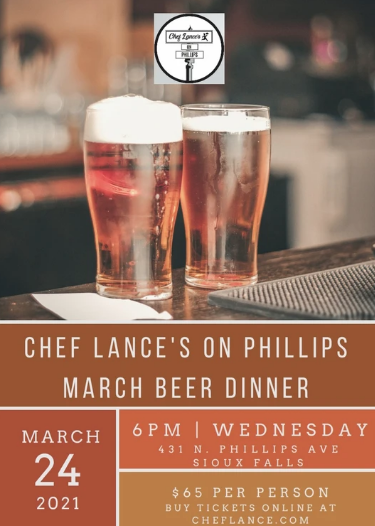 Chef Lance's March Beer Dinner