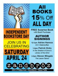 Independent Bookstore Day Zandbroz