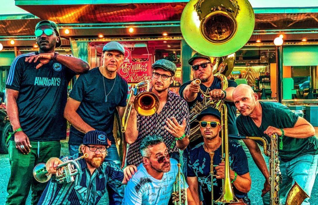 LowDown Brass Band Levitt at the Falls