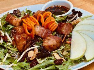 Ode's pork belly apple lechon salad
